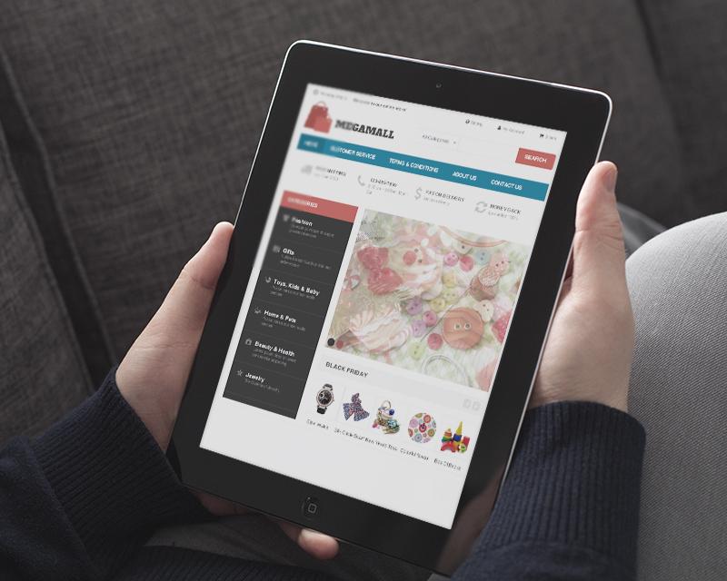 Magento Theme MegaMall – iPad