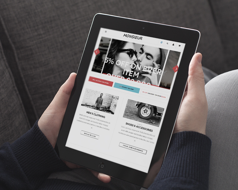 Magento Theme Monsieur – iPad