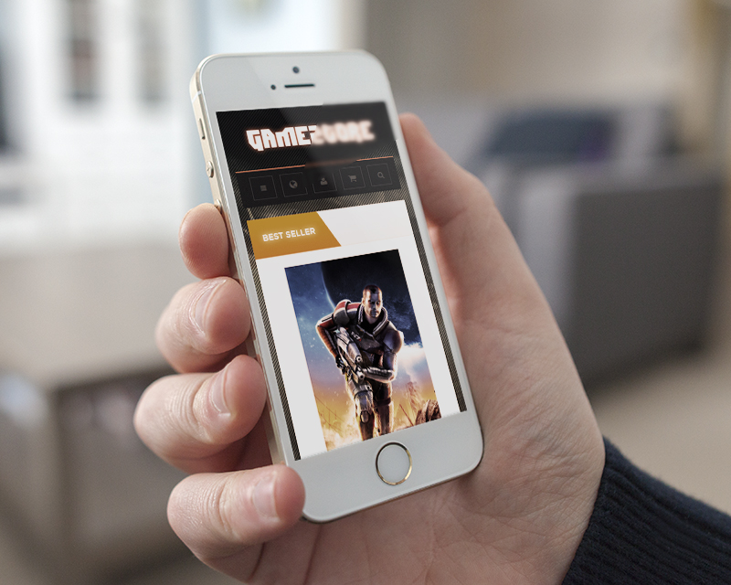 Magento Theme Gamestore – iPhone