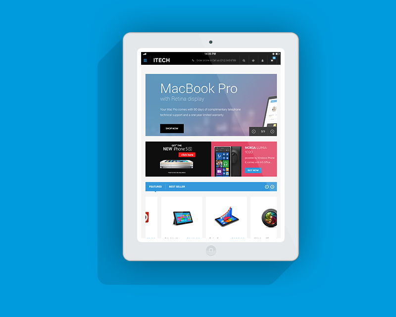 Magento Theme iTech – iPad