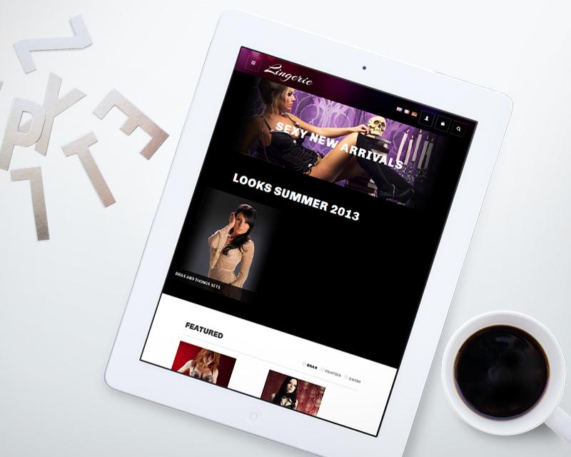 Magento Theme Lingerie – iPad