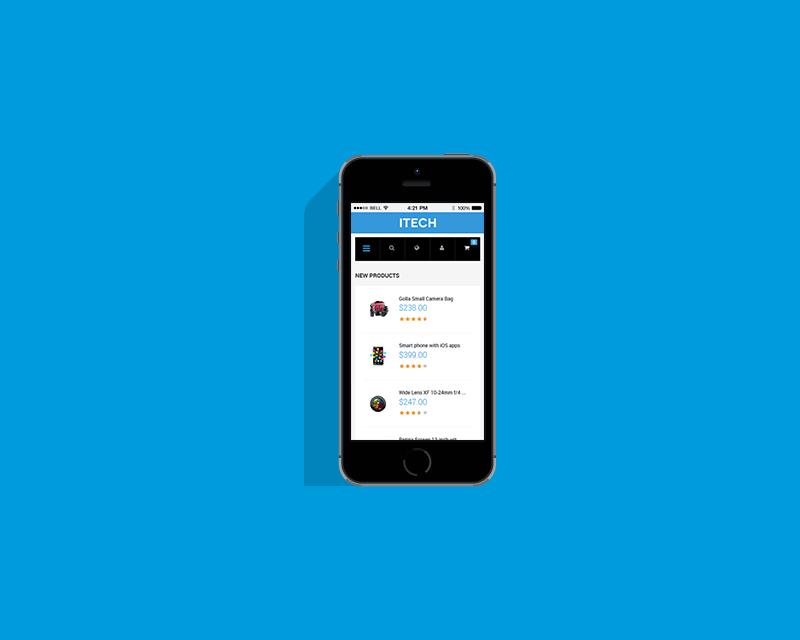 Magento Theme iTech – iPhone