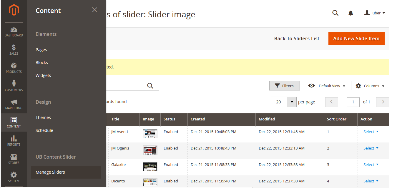 3_ go to Slider page