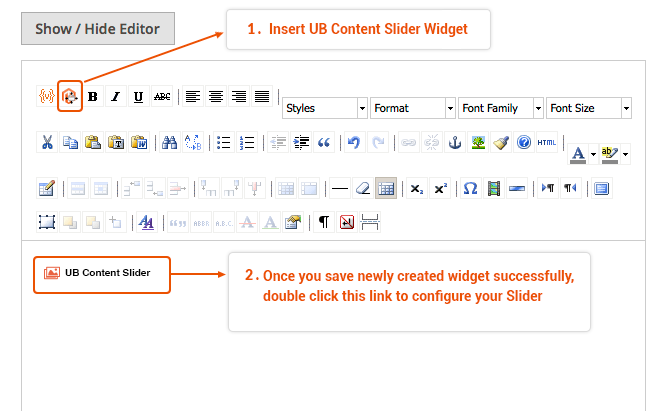 Add a widget to a CMS page