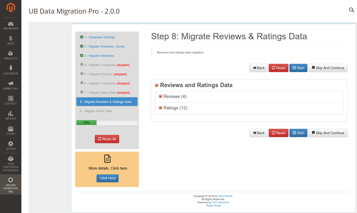 Step 8 - Migrate Reviews Ratings