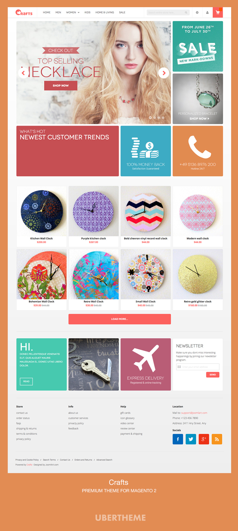 Crafts Homepage - Premium Magento 2 Theme