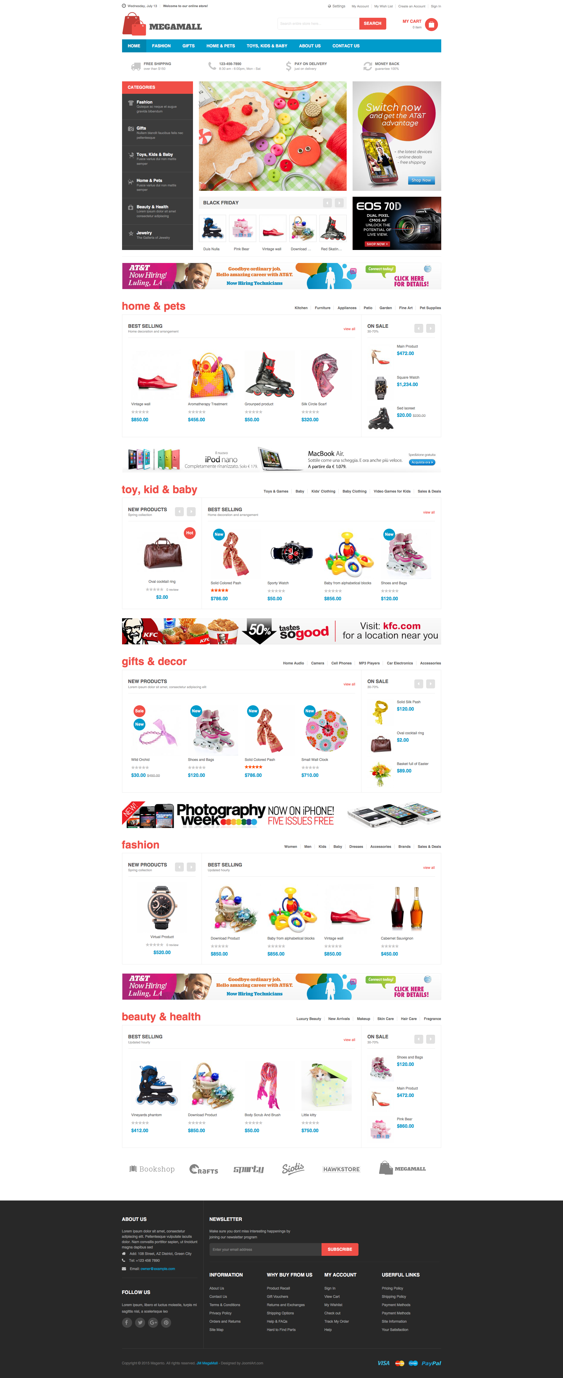 Magento 2 theme - UB MegaMall Homepage