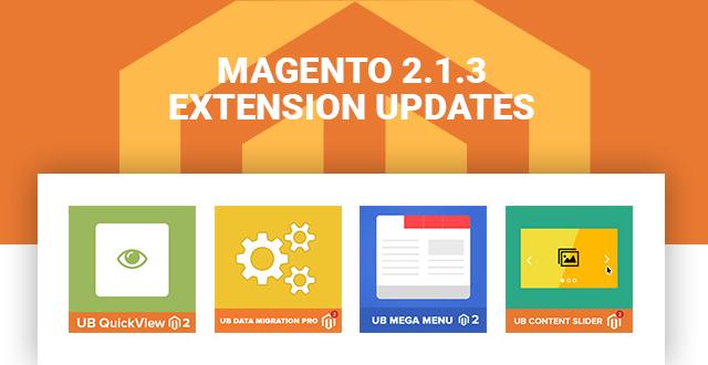 Magento 2.1.3 Updates