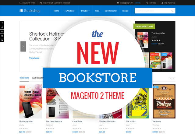 Magento 2 theme for bookstore - UB Bookshop