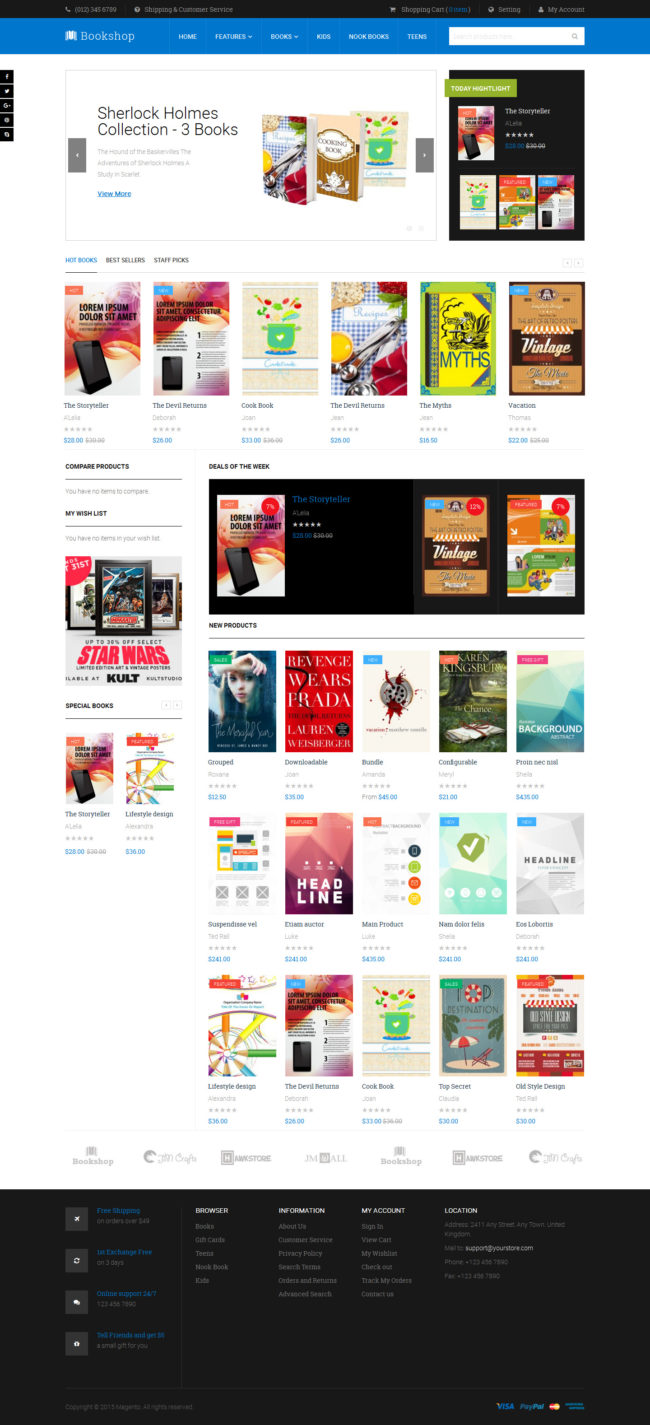 Magento 2 theme - UB Bookshop Homepage