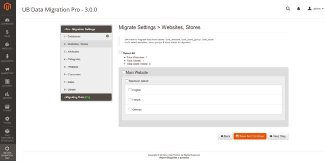 Step 2 - Migrate Website Store