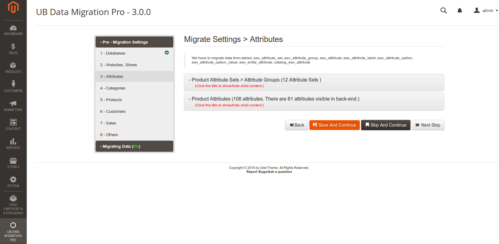 Step 3 - Migrate Attribute