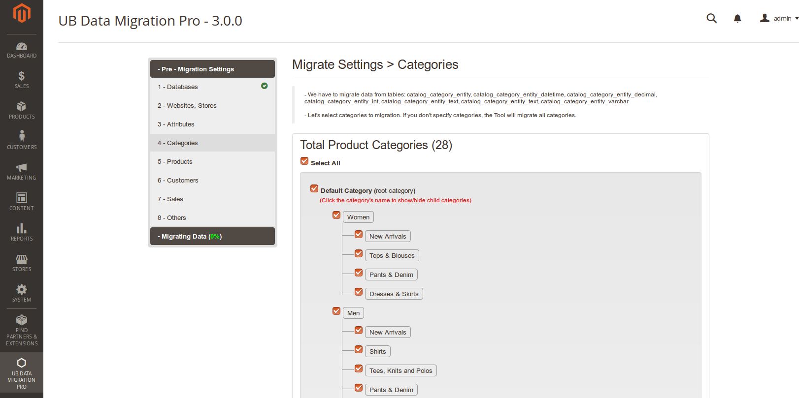 Step 4 - Migrate Categories