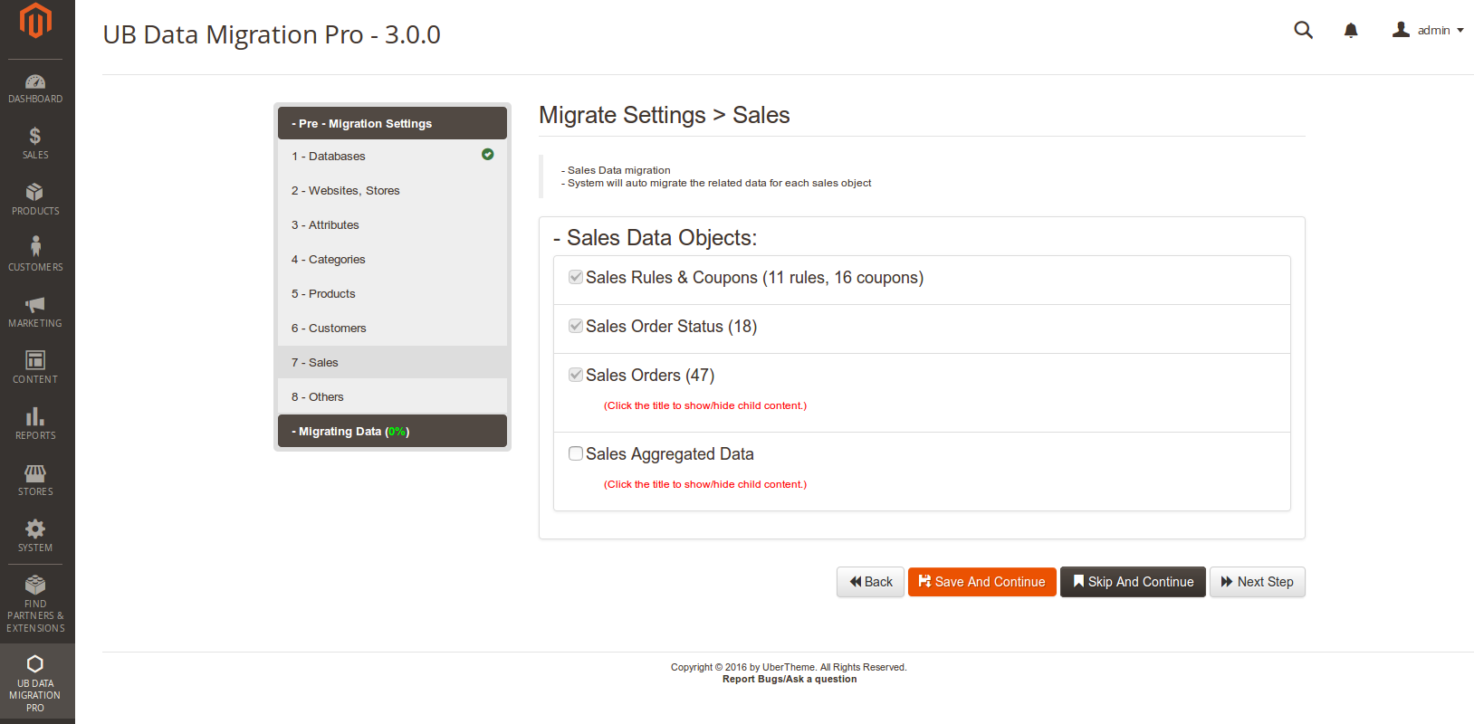 Step 7 - Migrate Sales Data