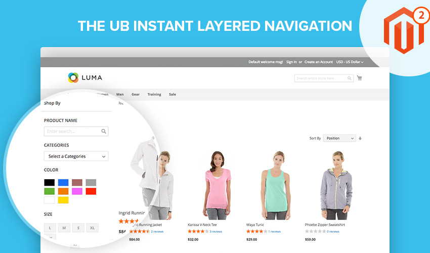 UB Instant Layered Navigation for Magento 2
