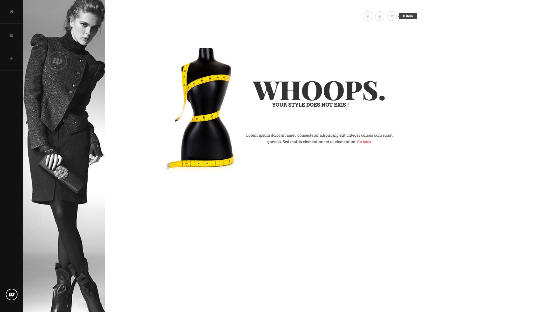 404 Page - Classy Magento Theme