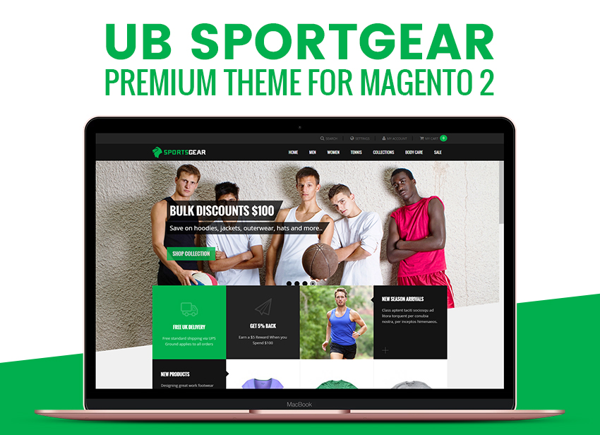 UB SportsGear theme for Magento 2