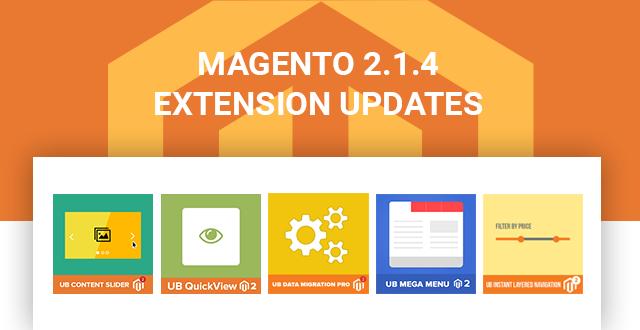 Magento 2.1.4 Updates