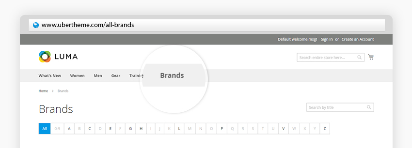 Shop By Brand - a great way to showcase collections