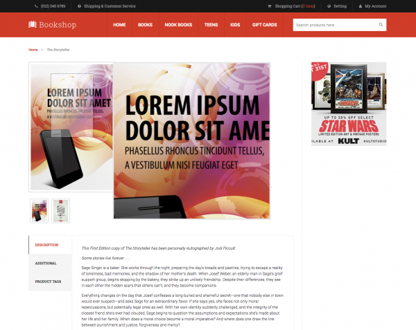 Bookshop theme for Magento