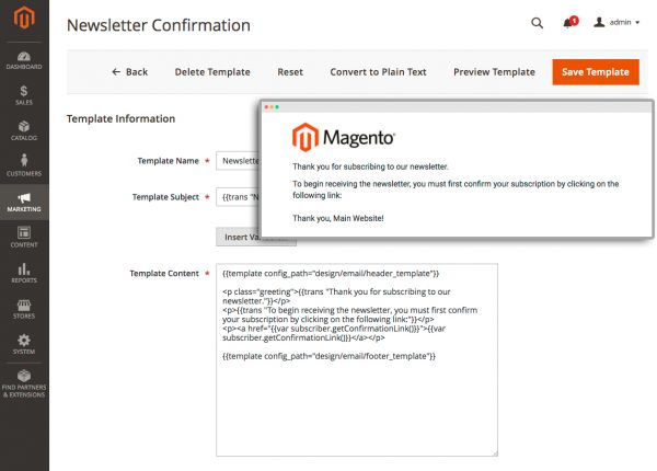 Magento 2 Email Templates