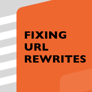 Fixing URL Rewrites issue
