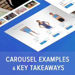 Carousel examples and takeaways