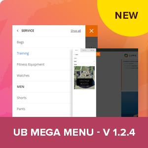 UB Mega Menu v1.2.4