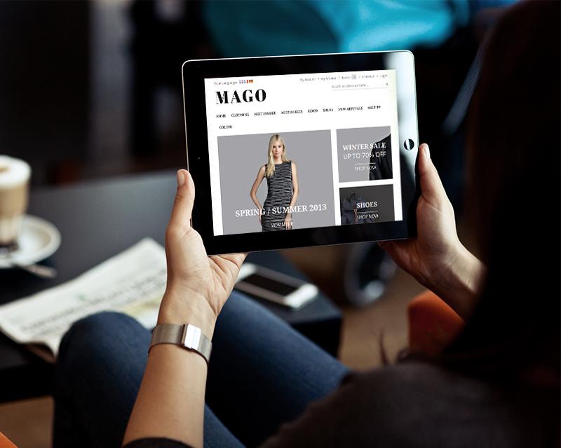 Magento Theme Mago – iPad