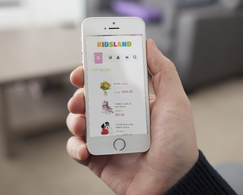 Magento Theme Kidsland – iPhone