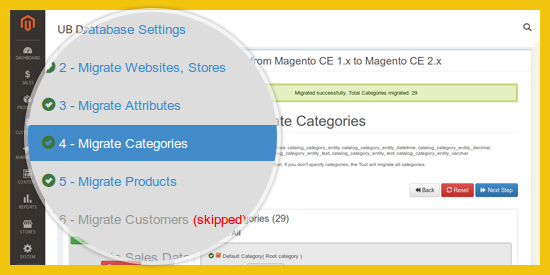 Magento Data Migration Tool - Configure