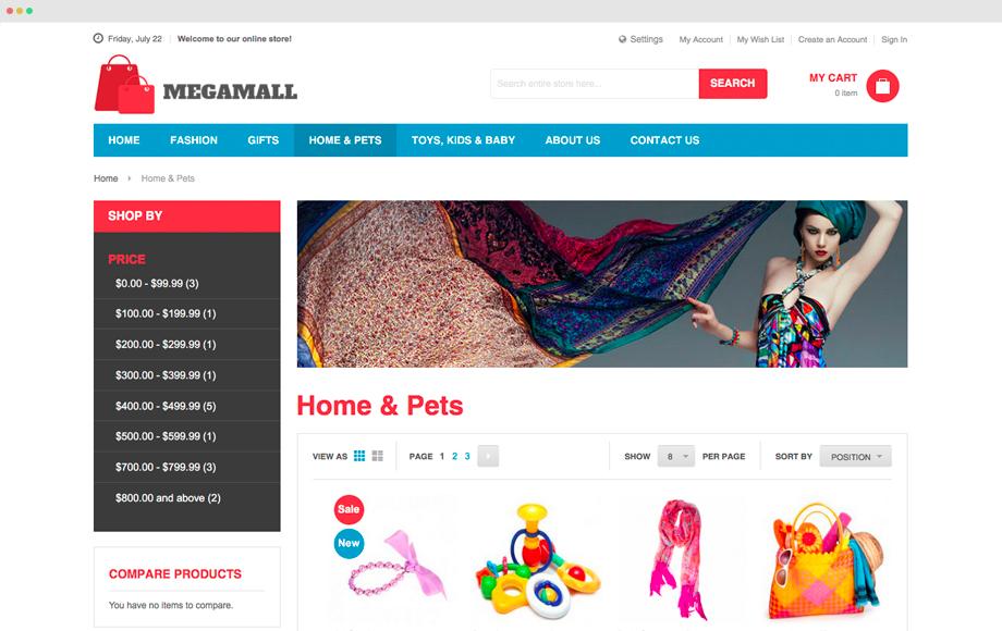 UB Megamall Listing Page