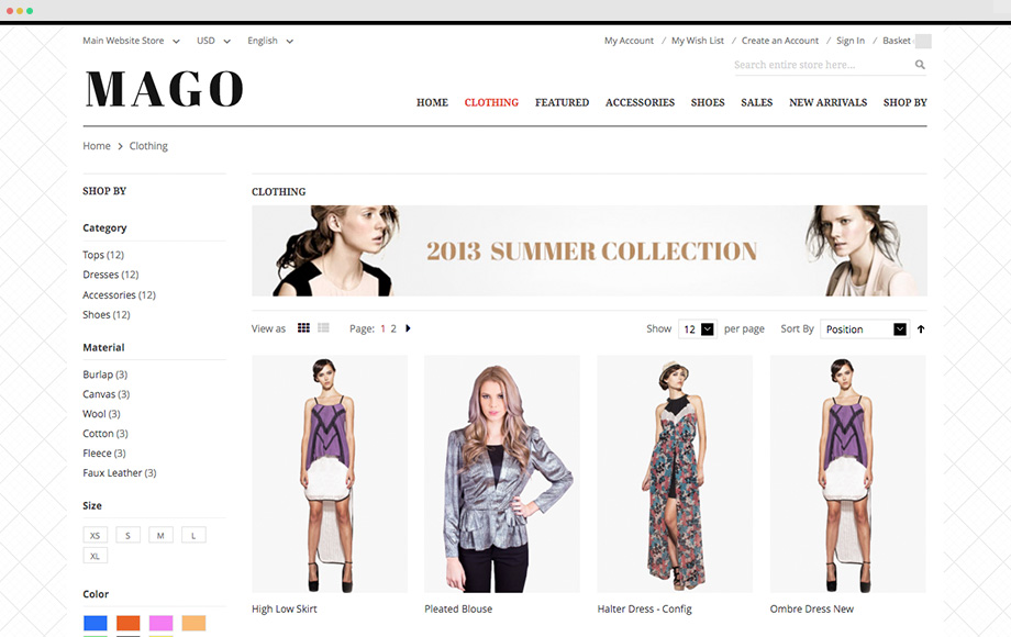 UB Mago Listing Page