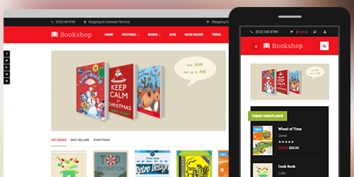 Responsive Magento theme UB Bookshop feature