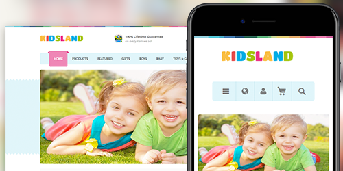 Responsive Magento theme UB Kidsland feature