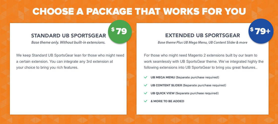 UB SportsGear Package
