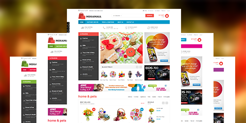 Responsive Magento theme Megamall feature