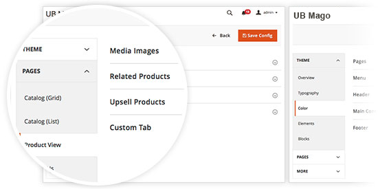 Responsive Magento theme UB Mago feature