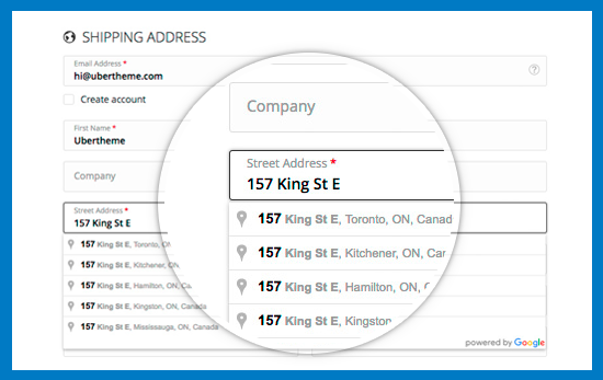 Magento 2 One Step Checkout - Auto Address Suggestion
