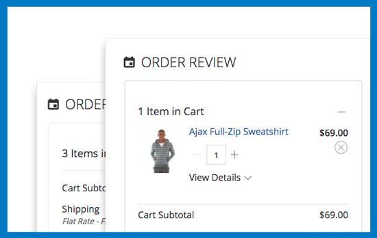 Magento 2 One Step Checkout - Edit Product On Checkout Page
