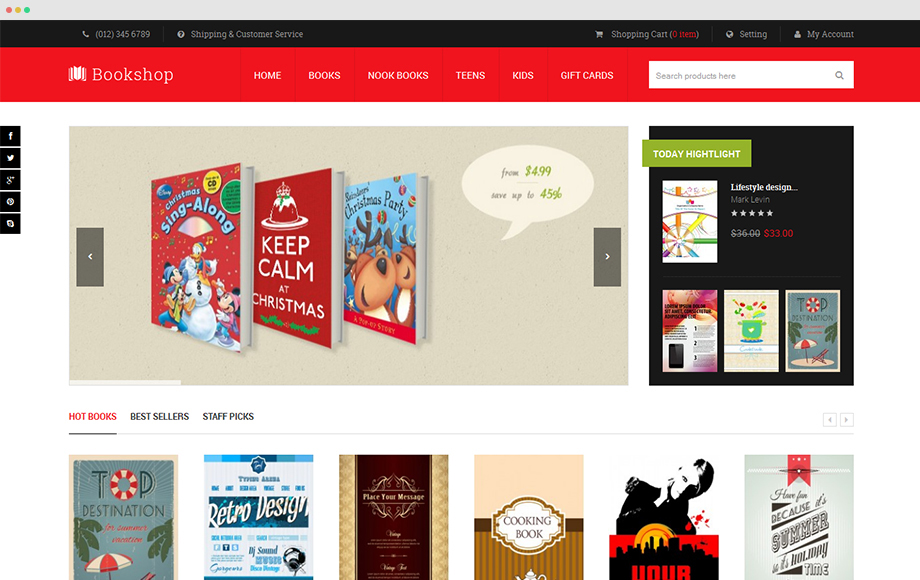 Bookshop theme for Magento 1