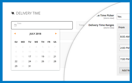Magento 2 One Step Checkout - Delivery Date & Time